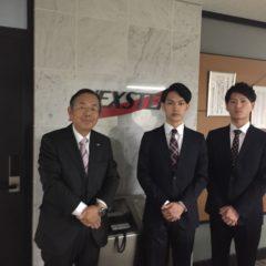当社に2名の新入社員が入社しました。